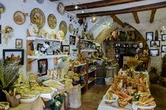 Morella é uma cidade murada antiga na Espanha Fotografia de Stock Royalty Free