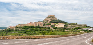 Morella κάστρο στην Ισπανία Στοκ Εικόνες