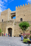 Morella is an ancient walled city in Spain. Royalty Free Stock Photo