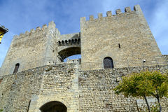 Morella in castellon castle fort at Spain Royalty Free Stock Photos