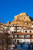Morella Castellon castle and village in Maestrazgo Royalty Free Stock Image