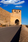 Morella in castellon Maestrazgo castle fort door Royalty Free Stock Photo