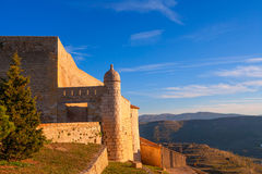 Morella in castellon Maestrazgo castle fort Royalty Free Stock Photos