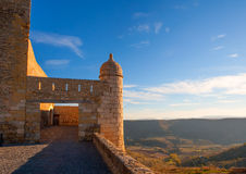 Morella in castellon Maestrazgo castle fort Stock Photos