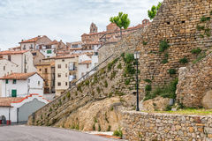Morella castle in Spain Stock Images