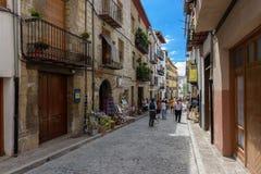 MORELLA, ESPANHA - EM AGOSTO DE 2015 Foto de Stock Royalty Free