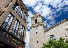 MORELLA, ESPANHA - EM AGOSTO DE 2015 imagem de stock royalty free