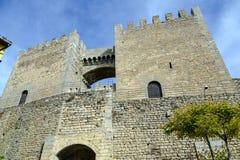 Morella i castellonslottfort på Spanien Royaltyfria Foton