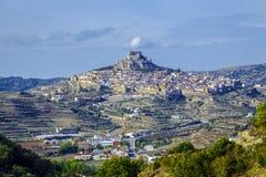Morella i Valencia, Spanien Arkivfoto