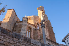 Morella in Maestrazgo castellon church details Royalty Free Stock Photography
