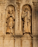 Morella in Maestrazgo castellon church details Stock Photography