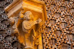 Morella in Maestrazgo castellon church details Royalty Free Stock Photo