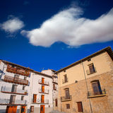 Morella in Maestrazgo castellon village facades Stock Photography