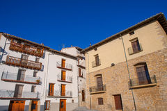 Morella in Maestrazgo castellon village facades Royalty Free Stock Photography