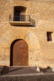 Morella in Maestrazgo castellon village facades Royalty Free Stock Photo