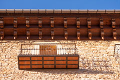 Morella in Maestrazgo castellon village facades Stock Images