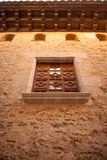 Morella in Maestrazgo castellon village facades Royalty Free Stock Image