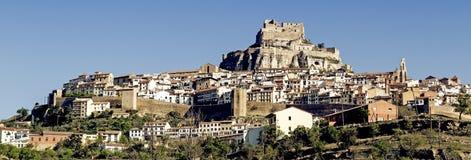 Morella. Panoramic view of Morella. Spain Stock Images