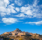 Morella village is Maestrazgo Castellon with castle Stock Photo