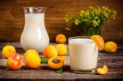 Morelowy milkshake fotografia stock