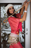 Morena bonita, dançarino de barriga, executor Fotos de Stock Royalty Free