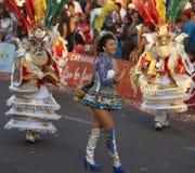 Morenada舞蹈家-阿里卡,智利 免版税库存图片