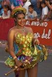 Morenada舞蹈家-阿里卡,智利 免版税库存照片