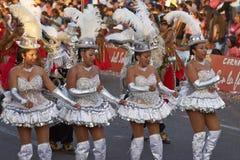 Morenada舞蹈家-阿里卡,智利 免版税图库摄影
