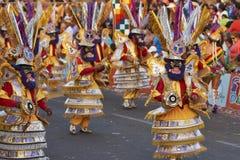 Morenada舞蹈小组-阿里卡,智利 图库摄影