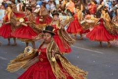 Morenada舞蹈小组-阿里卡,智利 免版税图库摄影