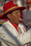 Morenada band at the Arica Carnival in Chile Stock Photography