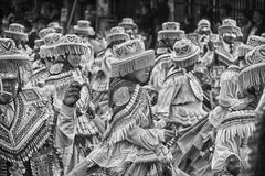 Kullawada dance in Bolivia Royalty Free Stock Image