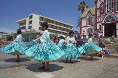Morenada Dance Group in Arica, Chile Stock Photography