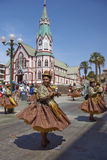 Morenada dance group at the Oruro Carnival in Bolivia Royalty Free Stock Photography