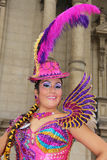 Morenada dancer in Peru Royalty Free Stock Photography