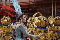Morenada dancers at the Oruro Carnival royalty free stock photography