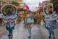 Morenada dancers at the Oruro Carnival stock photos