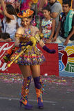 Morenada dansare - Arica, Chile Royaltyfri Fotografi