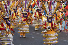 Morenada dansgrupp - Arica, Chile Arkivbild