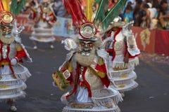 Morenada dansgrupp - Arica, Chile Royaltyfria Bilder