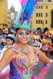 Morenada-Tänzer in Peru Stockfotografie