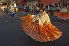 Morenadadansers - Arica, Chili Stock Foto's