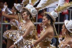 Morenadadansers in Oruro Carnaval in Bolivië Royalty-vrije Stock Afbeelding