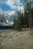 Morenemeer, het Nationale Park van Banff, Alberta, Canada Royalty-vrije Stock Foto