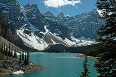 Morenemeer, het Nationale Park van Banff, Alberta, Canada Royalty-vrije Stock Afbeelding