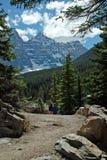 Morenemeer, het Nationale Park van Banff, Alberta, Canada Royalty-vrije Stock Foto's