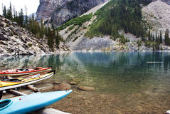 Morenemeer, het Nationale Park van Banff, Alberta, Canada Stock Afbeelding