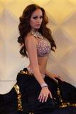 Morenita hermosa, bailarina de la danza del vientre, ejecutante Foto de archivo libre de regalías