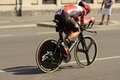 Moreno Hofland konkurent przy wysoką prędkością przy Giro 2017, Mediolan Zdjęcia Stock