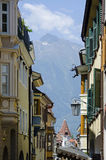 Moreno street on the background of the alps Stock Photo